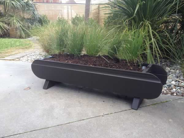 Small Wood Planter